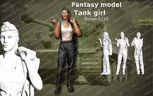 1/16 SUMMER STAND TANK GIRL toy Resin Model Miniature resin figure Unassembly Unpainted(China)