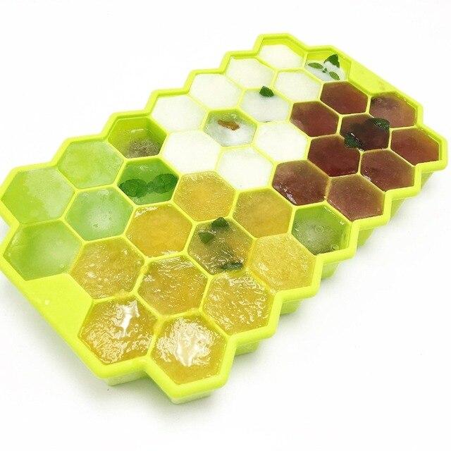 1pcs Silicone Honeycomb Modeling Cake Chocolate Mold Ice Tray Cube Bee  Honey Ice Maker Mold Kitchen