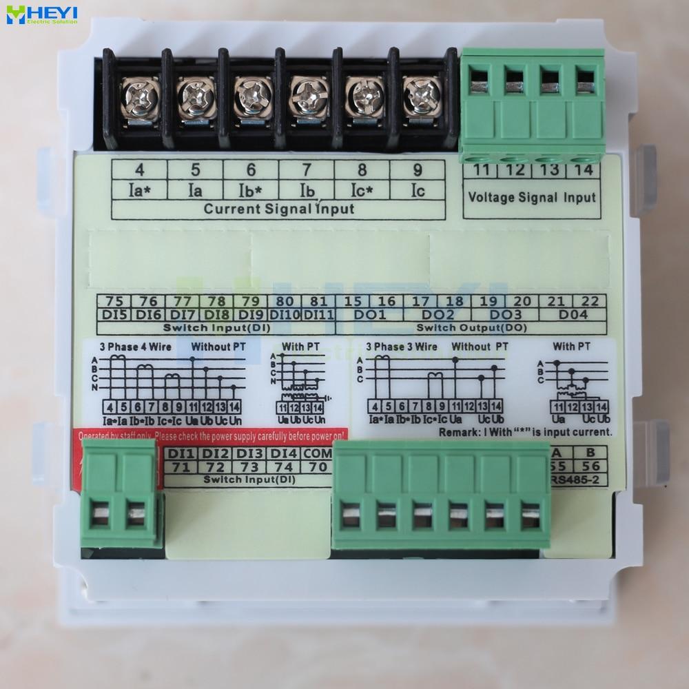 LCD Three phase multifunction meter 96*96 Mulit meter for amp ...