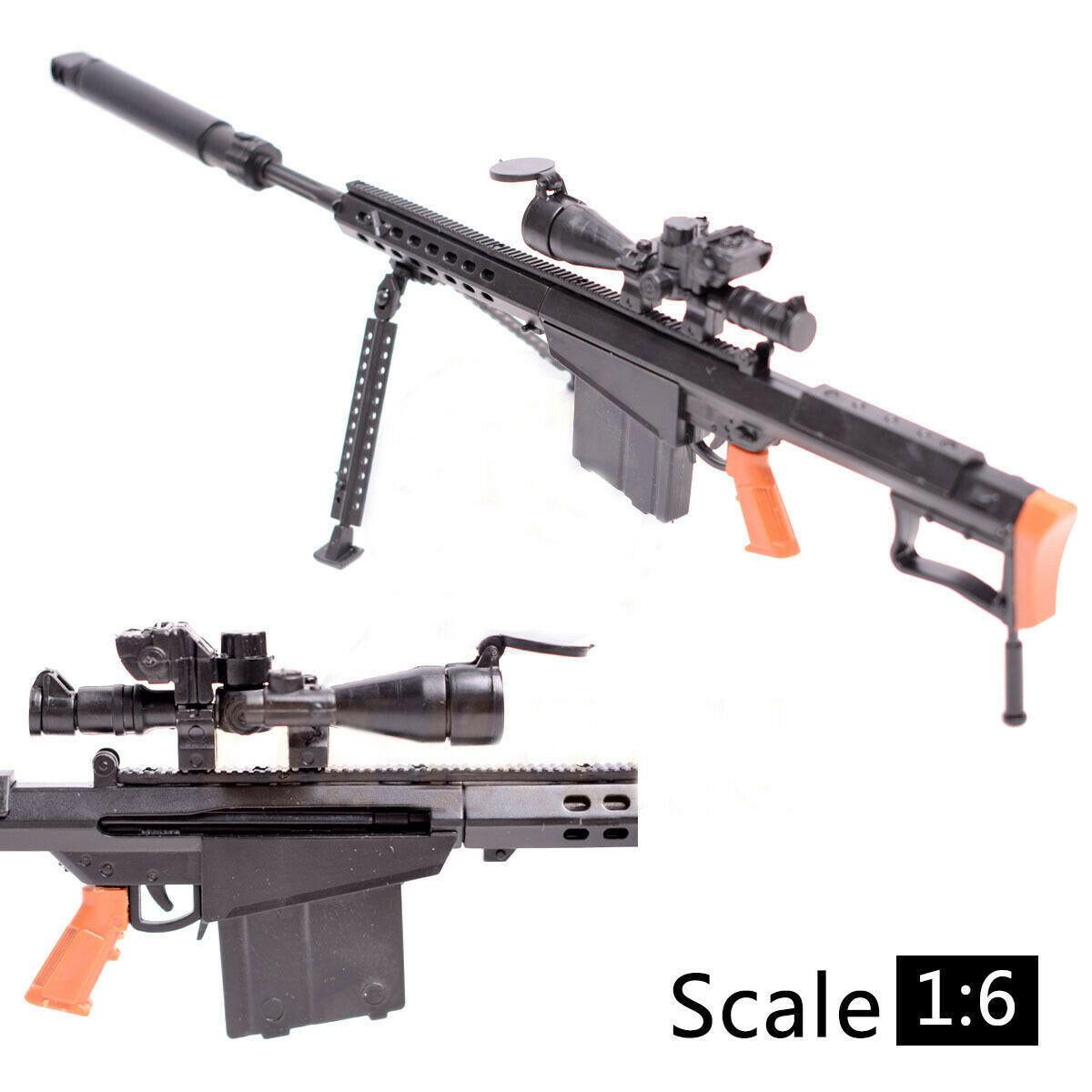 1:6 M82a1 Rifle De Francotirador Barrett Montaje Pistola De Juguete Asamblea Modelo Rompecabezas Edificio De Ladrillos De Plástico De Arma Para Figura De Acción Efecto Evidente