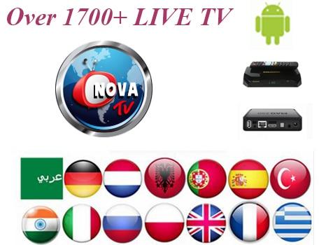 US $39 99 |Hot Sale 1 Year /12 months Nova TV Code Arabic IPTV UK IPTV Live  TV Android UK Arabic 1100+channels Solovox V9S/V9/V8S PLUS-in Satellite TV