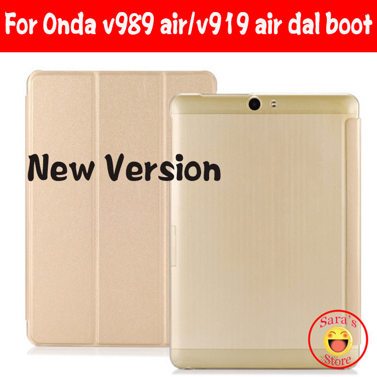 For Onda V919 air ch V989 Air cover, For Onda V919 3G Air Dual Boot Case,Ultra-thin Leather case for 9.7inch Onda V989 air