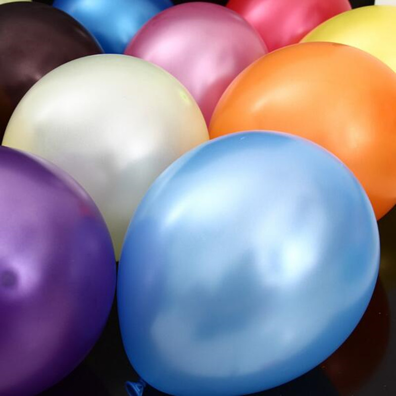 50pieces/lot 12 2.8 g round pearl latex balloons Mixed color High-quality party