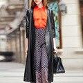 PU Women Trench Coat feminino kaban Women Trench Coats abrigoscoat casacos sobretudo feminino manteau femme hiver cardigan xxxl