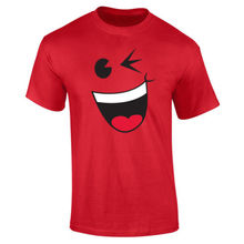 Mens Happy Wink Smiley Face Cute T-shirt S-XXL New T Shirts Funny Tops Tee New Unisex Funny  High Quality Casual Printing wink бра wink mbg7040 1