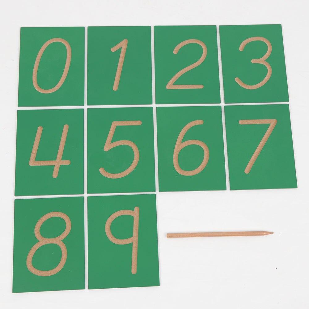 Bébé Montessori Early jouets éducatifs Préscolaire Formation Learning Creux Numbrellas Rainure Nombre En Bois Cartes De 0-9