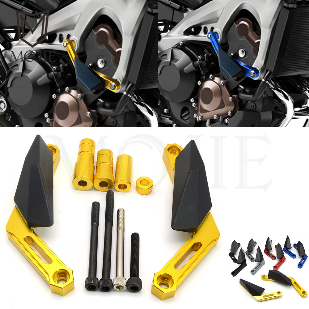 For Yamaha MT 09 MT-09 MT09 FZ-09 2013-2016 MT-09 TRACER FJ-09 FJ09 FJ 09 2015 2016 XSR900 2016 Motorcycle Frame Slider Falling cnc motor engine guard case for yamaha fj 09 2015 2016 2017 fj09 fj 09 f mt 09 2014 2017 2016 mt09 mt 09 slider protector cover