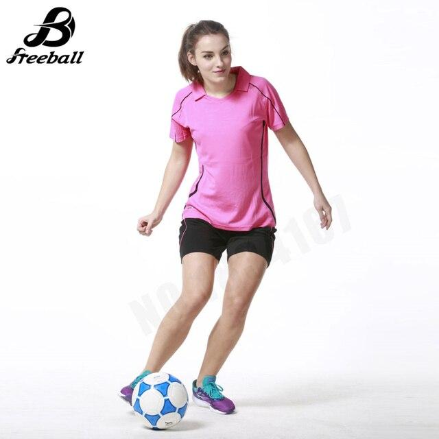 Jerseys mujeres fútbol manga corta survetement fútbol kit