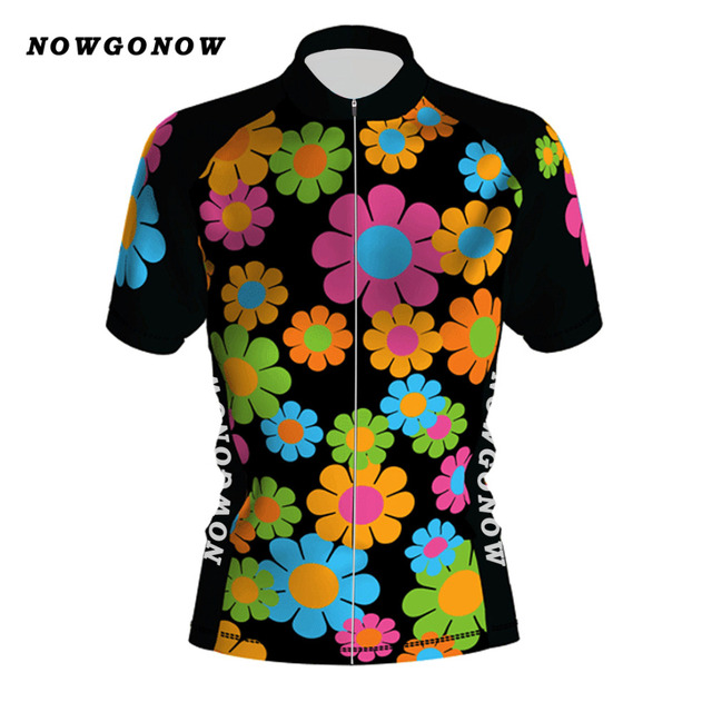 Women NEW 2017 classical JIASHUO Flowers BIKE WEAR RACE Team Bicyle Cycling  Jersey   Clothing   Wear Breathing Air Customized ca8ceacd5