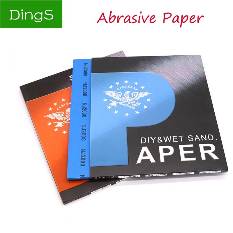 1pcs Wet Dry Polishing Sandpaper 80 To 10000 Grit Abrasive Sandpaper Paper Sheets Surface Finishing Made