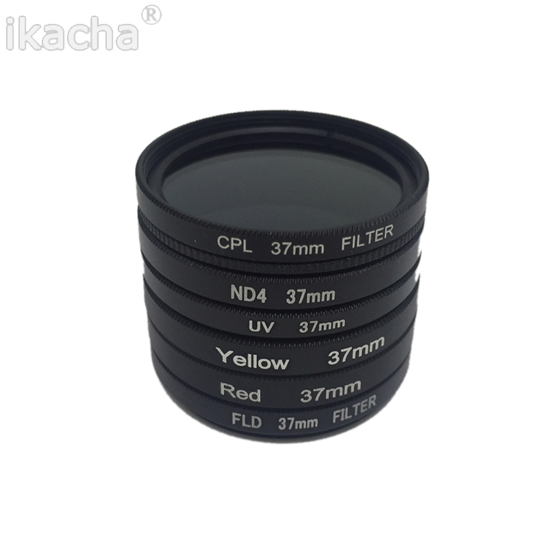 7 in 1 Camera Filter 37mm CPL FLD UV ND4 Red Yellow Sea Diving Filter + Ring + Lens Cap For Gopro Hero 6 5 4 3+ 3 8