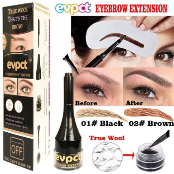 Hottest Eyebrow Extension Tint Gel Hair Fiber Brush Makeup Waterproof Easywear Black Brown Eye Brow Tattoo Women Makeup