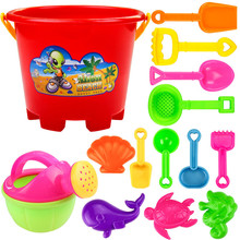 New Summer Beach Children Plastic Beach Toys Castle Bucket Shovel Tool Set Children's Beach Toys Bucket Shovel Sand Bucket цены онлайн