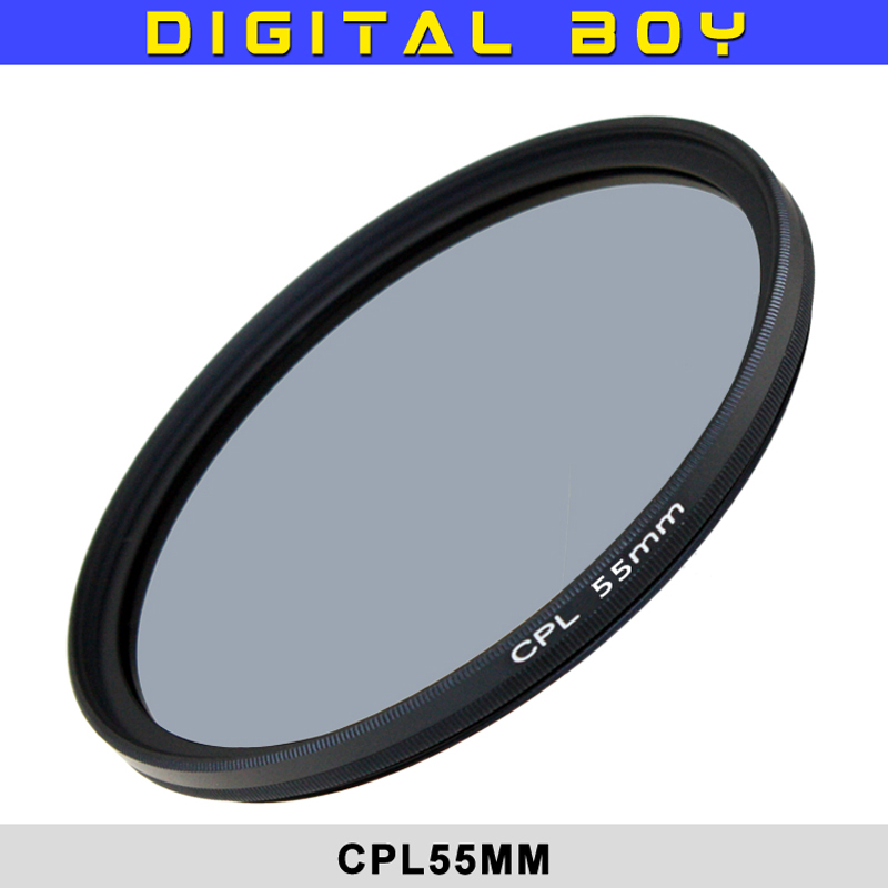 Factory Price 1 pcs 58mm Circular Polarizing CPL C PL Filter Lens 58mm for Canon 18-55 5 ...
