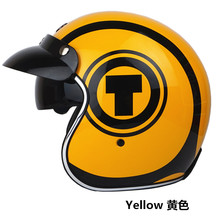 TORC каско capacete старинные шлемы T57 moto кафе racer мотоцикл скутер 3/4 ретро открытым лицом шлем Ml XL с sunney козырек
