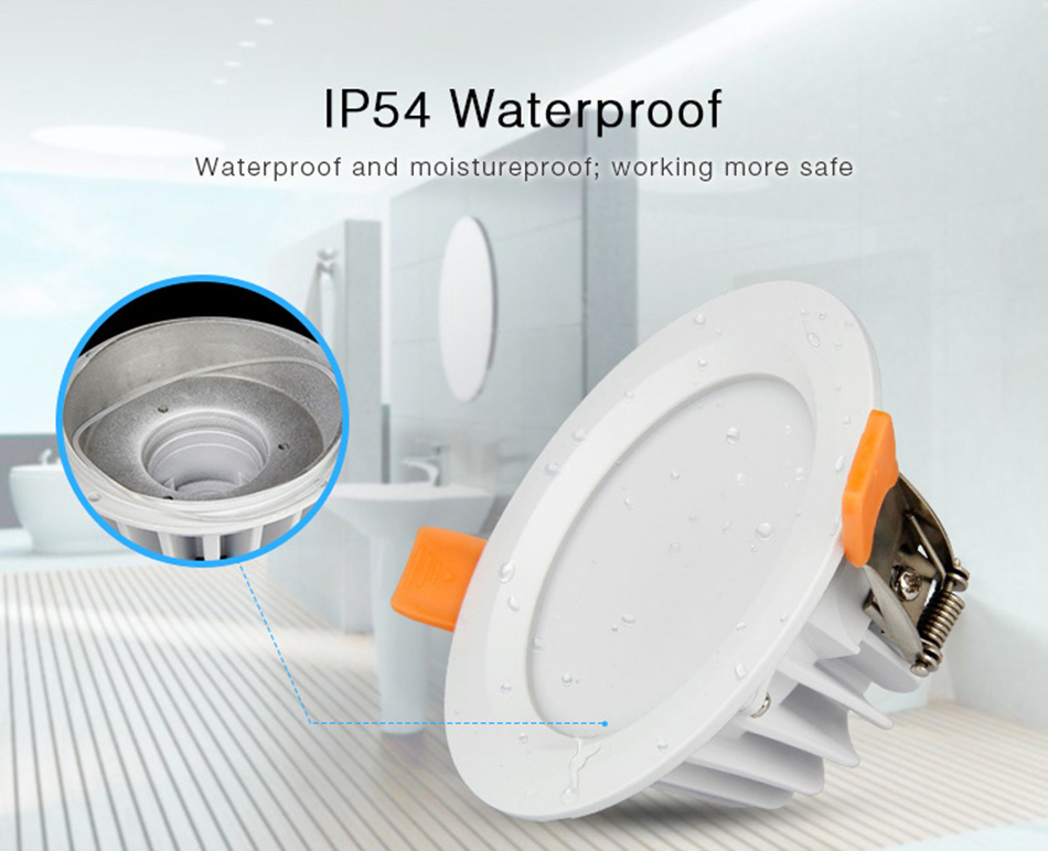 Mi Light 6W RGB+CCT LED Downlight Waterproof AC85-265V Dimmable LED Downlight by Mi Light Remote Control Indoor Lighting