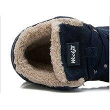 2018 Men Boots Casual Men Shoes Winter Fashion Men Shoes Winter Boots Warm Snow  Work Shoes Black Blue safety