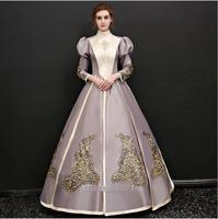 Women Medieval Dress Renaissance Vintage Gothic Dress Cosplay Dresses Retro Gown Gothic queen Costume For Fantasy Halloween