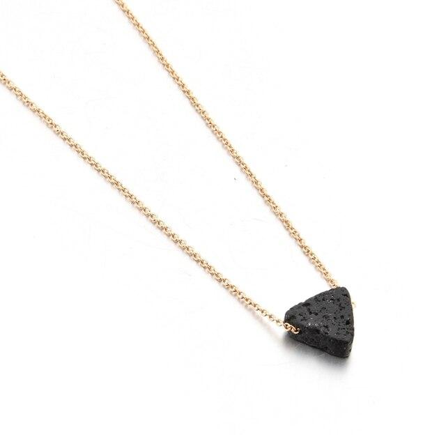 toucheart треугольные лавовые бусины ожерелья и подвески длинные фотография