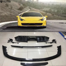 458 Car body kit Carbon fiber front lip rear diffuser spoiler wing for Ferrari Vorsteiner 2012