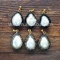 ¡ Nuevo! madre Natural de la perla colgantes con piedra Rin pavimentada, moda de agua dulce blanco perla colgantes