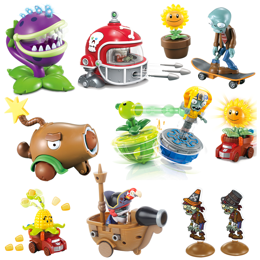 Kids Toys For Children Plants Vs. Zombies Novelty Luminous Toys Funny Launch Model Toy Birthday New Year Christmas Gift