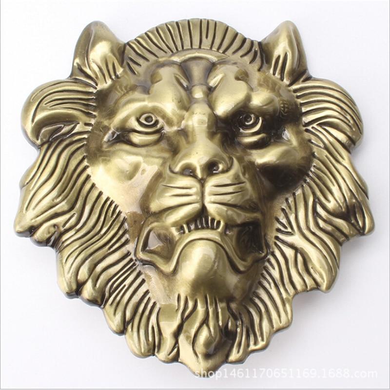 Big lion head belt golden lion buckle Belt accessories Animal head style belt head Single metal belt buckle