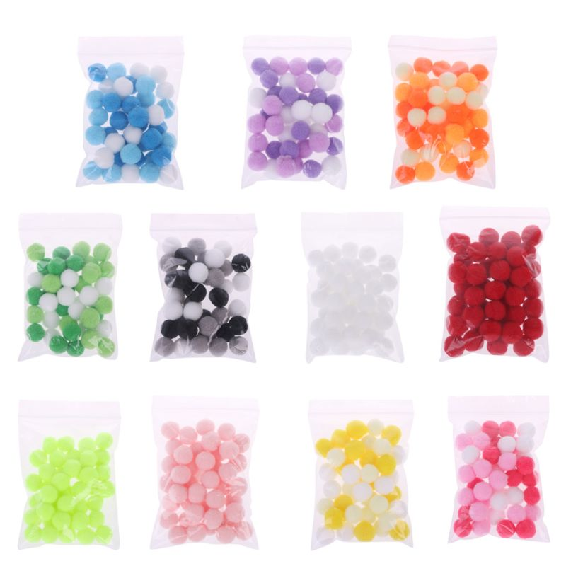 Toys & Hobbies Able 40pcs/bag Diy Soft Round Fluffy Ball Craft Pompoms Balls Slime Beads Slime Supplies Accessories For Foam Slime Putty