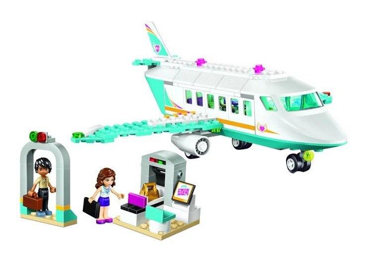 Бела 10545 для девочек друзья heartlake private Jet S строительные блоки детей Кирпич игрушки подарок Совместимо с legoingly 41100