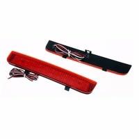2x LED Red Lens Rear Bumper Reflector Light Car Styling Fog Parking Warning Brake Light Tail
