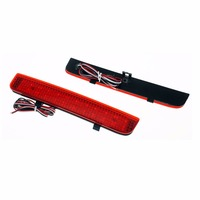 2x LED Red Lens Rear Bumper Reflector Light Car Styling Fog Parking Warning Brake Light Tail