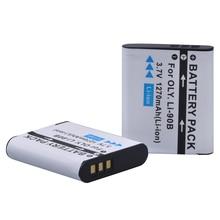 2 pack LI-90B LI 90B LI90B LI-92B Camera Battery For Olympus Tough TG-5 TG-Tracker SH-1 SH-2 SP-100 IHS Tough TG-1 iHS TG-2 iHS