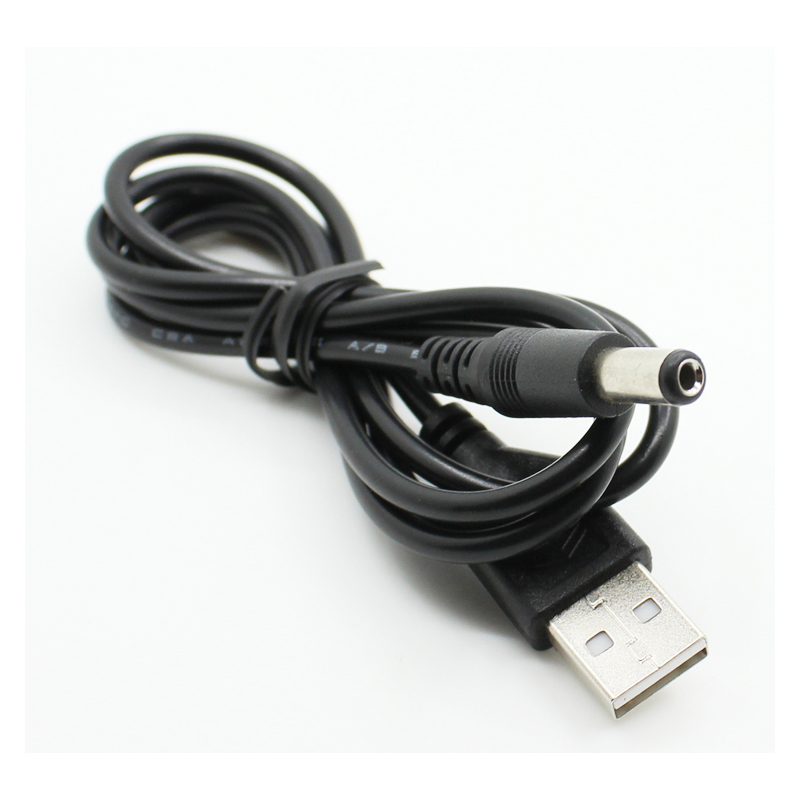PC Laptop <font><b>USB</b></font> Male to 5V <font><b>DC</b></font> 5.5mm x 2.1mm Barrel Connector Power <font><b>Cable</b></font> Cord image