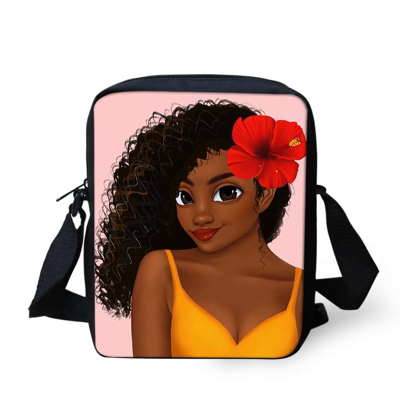 Afro S Prints School Messenger Bags