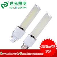 NEW 3W LED Plug Light Led Horizontal Down Light E27 G23 G24 Base