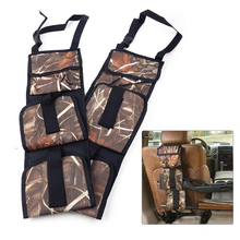DWCX 2pcs Truck SUV Pickup Universal Rack Back Seat Organizer Holder Oxford Army Holsters Hunting Accessories