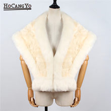 NEW Women Winter Cape Coat Warm Thick Faux Fur Capes Ladies Fashion Sleeveless Fur Shawl Cloak Luxury Women Short Cape Ponchos(China)