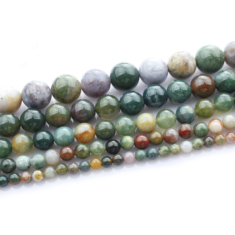 Perlen & Schmuck Machen EntrüCkung Natürliche Indische Achat Lose Perlen Für Armband Schmuck Zeug Healing Energie Stein Perle Simulierte Buddha Mala Bead Hk161