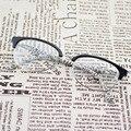 TR 90 óculos de Tartaruga Preto Moda Eye Glasses Óculos de Meia Armação Dos Óculos Estudante Do Vintage