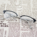 TR 90 Tortoise Black Fashion Eye Glasses Half Frame Eyewear Student Vintage Eyeglasses