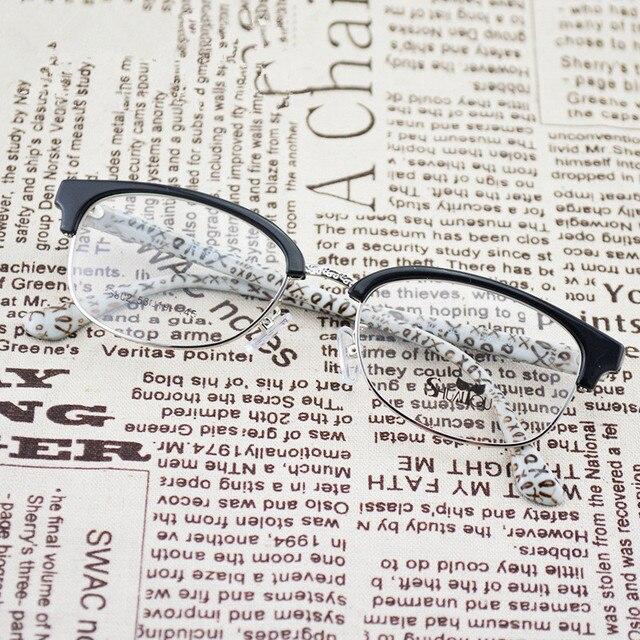 TR 90 Tortoise Black Fashion Eye Glasses Half Frame Eyewear for for Teens
