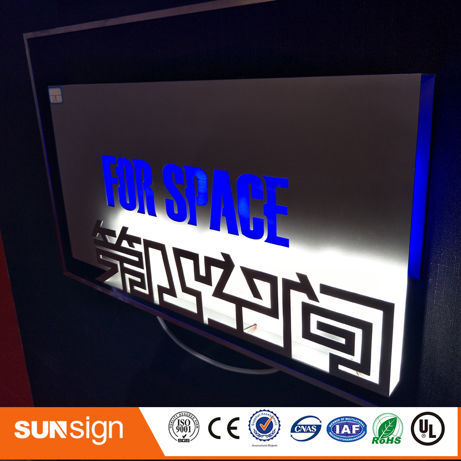 New Design Custom Outdoor Wall Mount Led Light Box Sign