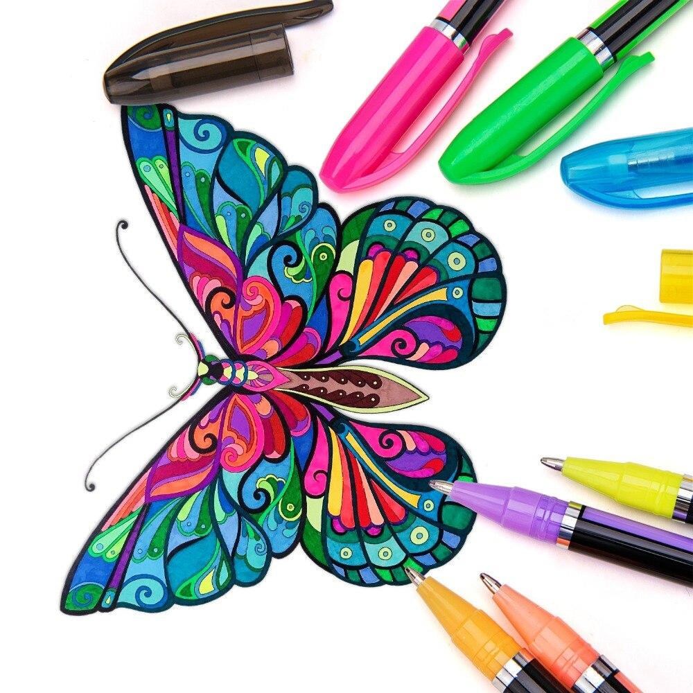 Bianyo 48 sztuk Zestaw Długopis Żelowy Wkłady Metalowe Pastelowe - Długopisy, ołówki i przybory do pisania - Zdjęcie 6