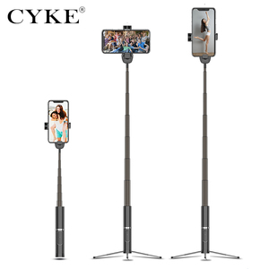 Image 4 - CYKE Mini Handheld Wireless Bluetooth Selfie Stick 3 in 1 Remote Control Shutter Selfie Stick Independent Tripod Telescopic Rod