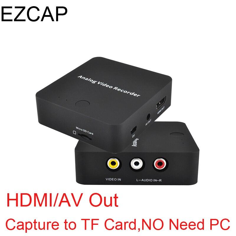 Analogico AV Recorder vecchio video nastro videocamera VIDEOREGISTRATORE VHS DVD DVR 8mm Hi8 HDMI scheda di Acquisizione Video in formato digitale alla Carta di TF, NON C' È Bisogno di PC