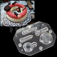 DIY 3D Cosmetic Kit Shape Chocolate Molds Baking Polycarbonate Chocolate Making Candy Mold Pastry Wedding Cake