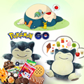 1pc 20cm pokemon plush snorlax stuffed animal children toys Snorlax plush toy big stuffed snorlax plush doll  kids gifts toy