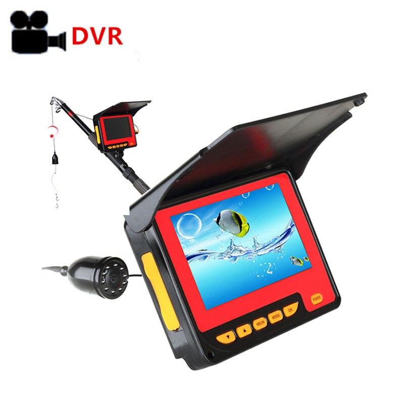 Underwater Fish Camera ICE Fishing Fish Finder 1000TVL 4 3 Monitor VIdeo Recording Camera DVR 8