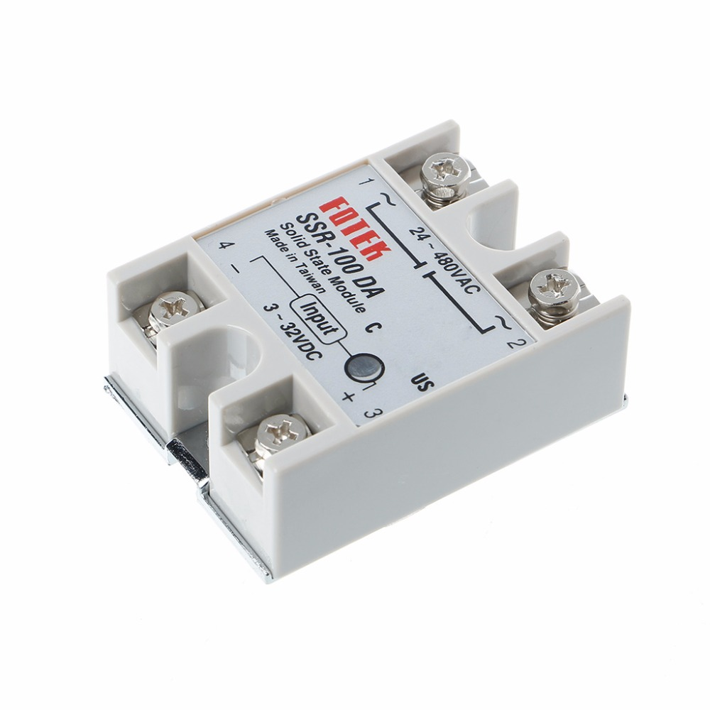 Single Phase 100A 24V-380V 250V SSR-100 DA Solid State Relay Module 3-32V DC To AC Power Supplies mgr 1 d4825 single phase solid state relay ssr 25a dc 3 32v ac 24 480v