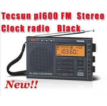 Livraison gratuite au détail-vente en gros Tecsun pl600 radio FM stéréo pl-600 Radio réveil fm